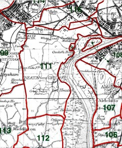 Heaton with Oxcliffe Map