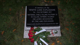 Memorial Plaque to the White Lund Explosions